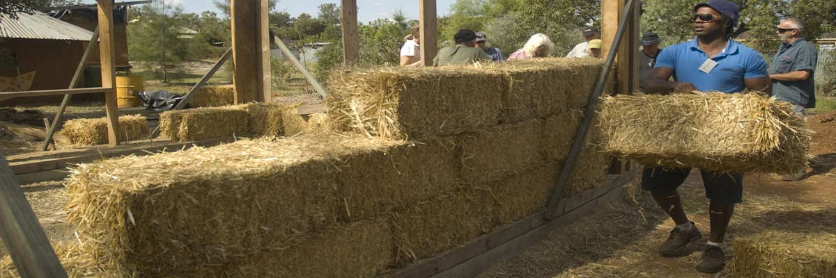 Strawbale Greenhouse Walls