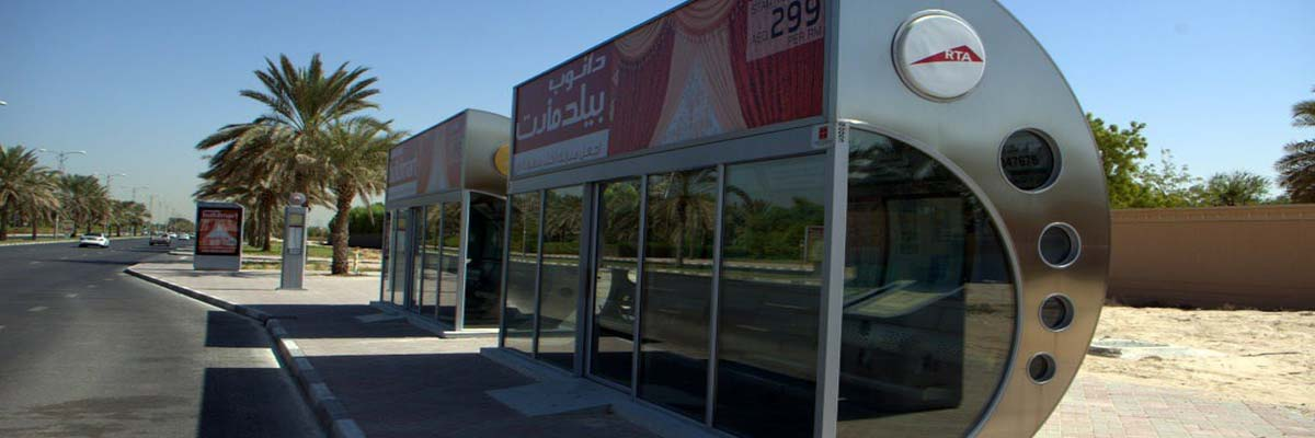 Air conditioned bus stop Dubai