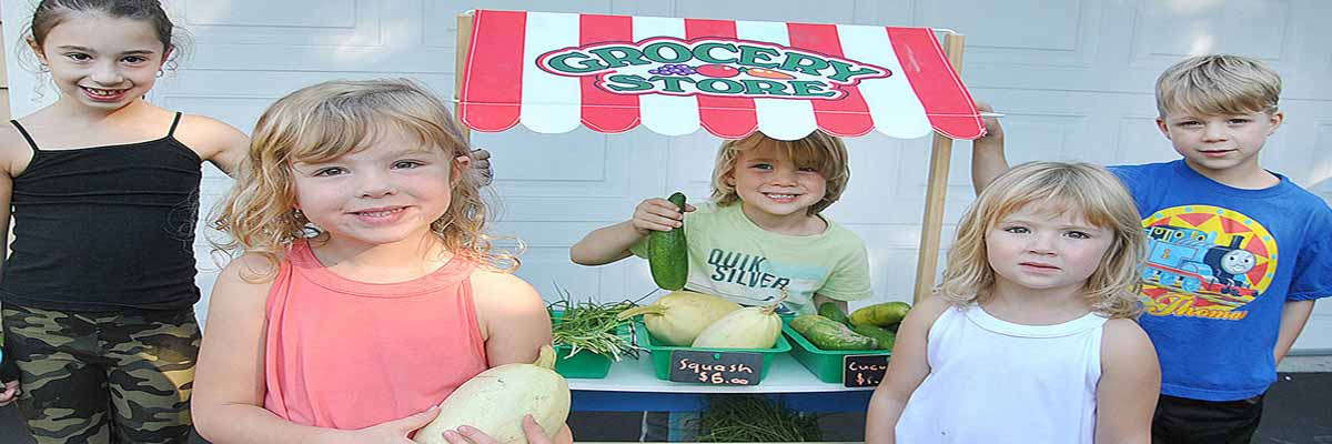Eleven Year-Old's Organic Veggie Stand